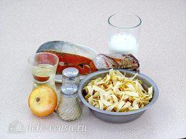 Паста с рыбой в сливочном соусе: Ингредиенты