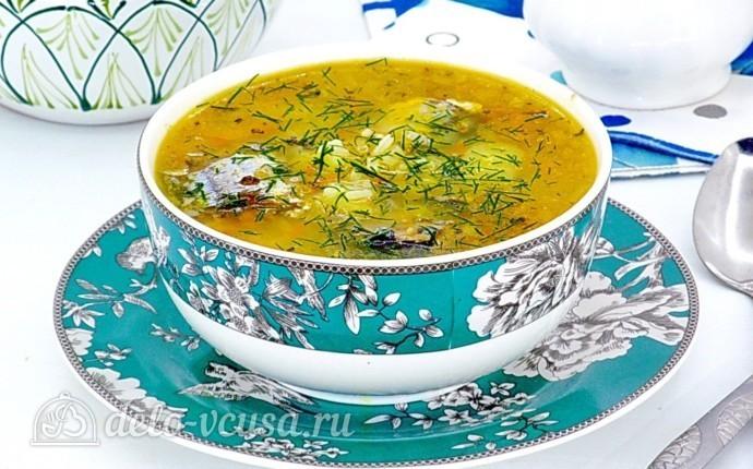 суп из рыбной консервы рецепт с рисом