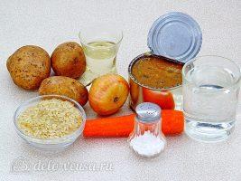 Суп из рыбной консервы с рисом: Ингредиенты