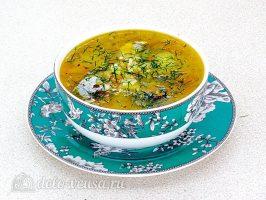 Суп из рыбной консервы с рисом готов