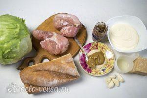 Салат Цезарь с курицей и сухариками: Ингредиенты