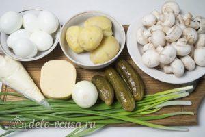 Салат Грибы под шубой: Ингредиенты