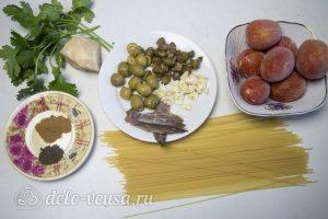 Спагетти Путанеска с помидорами и анчоусами: Ингредиенты