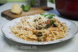 Спагетти Путанеска с помидорами и анчоусами готовы