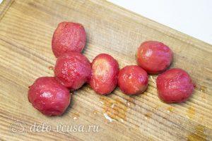 Спагетти Путанеска с помидорами и анчоусами: Очистить помидоры