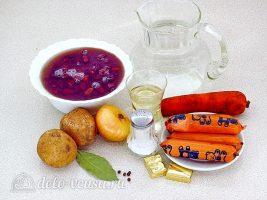 Суп с фасолью и сосисками: Ингредиенты