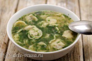 Суп с пельменями готов