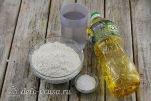 Тесто для чебуреков на воде: Ингредиенты