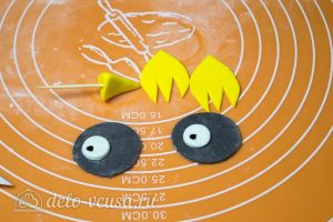 Торт Совенок: Готовим нос и глаза