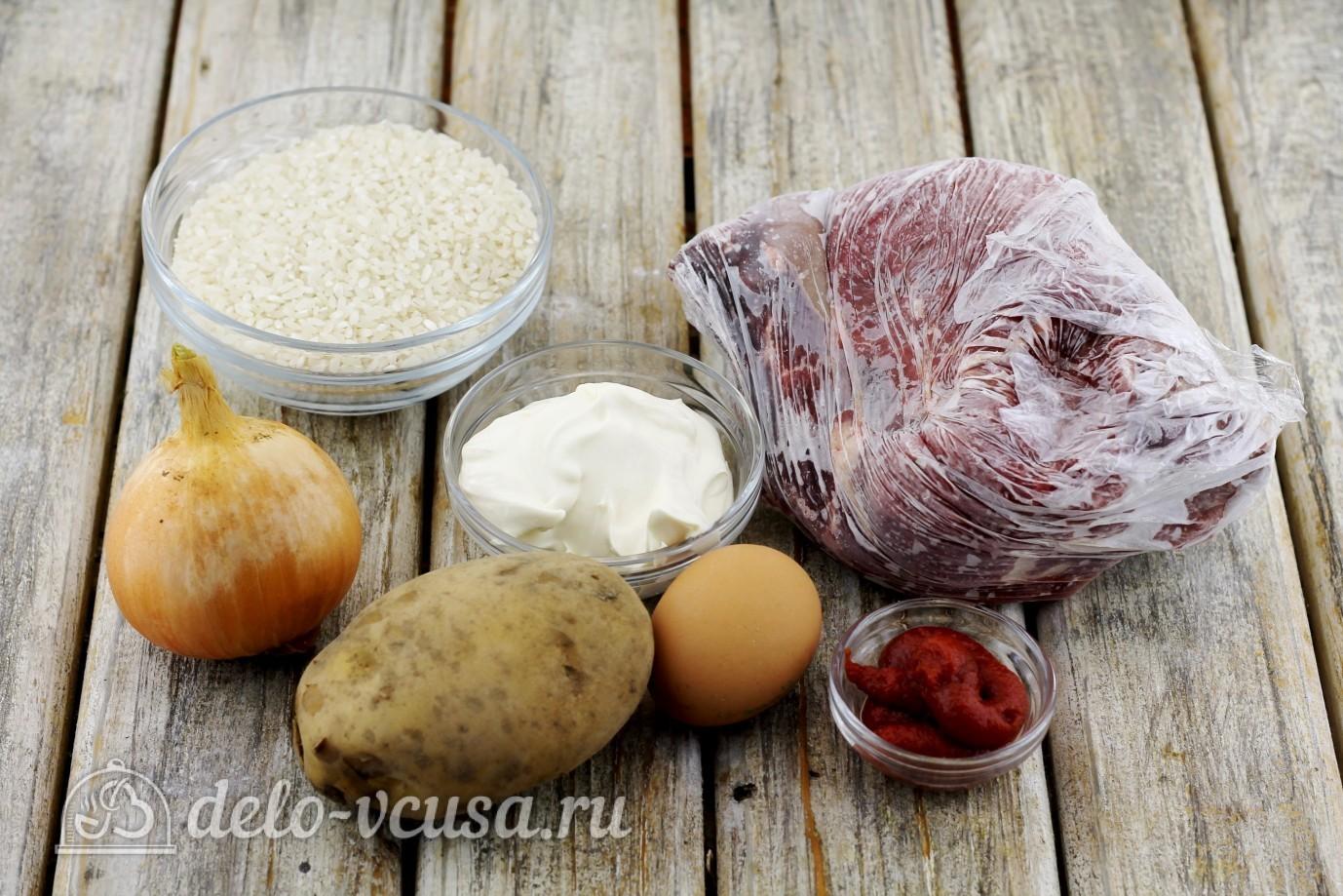Тефтели с рисом в духовке: Ингредиенты
