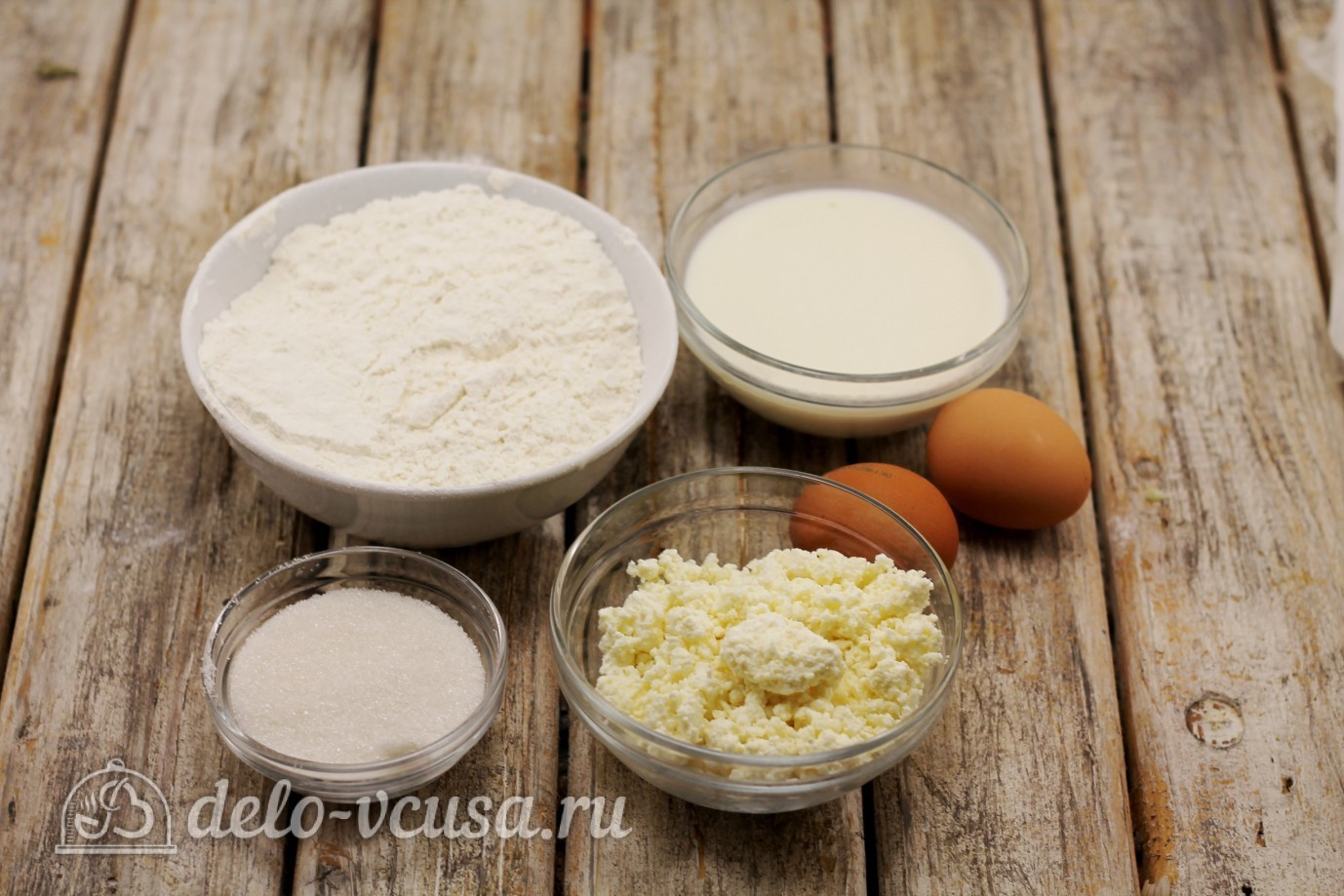 Творожные блины: Ингредиенты