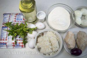Блины с курицей и рисом: Ингредиенты
