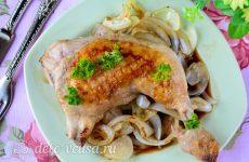 Жареная курица в соевом соусе