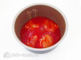 Курица в томатном соусе в мультиварке: Залить томатным соком