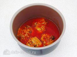 Курица в томатном соусе в мультиварке: Тушить до готовности