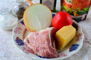 Мясо по-французски из свинины с помидорами: Ингредиенты