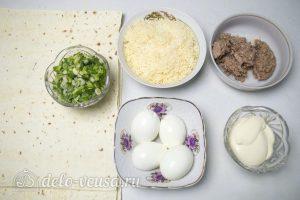 Рулет из лаваша Мимоза: Ингредиенты