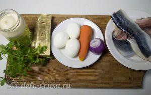 Рулет из сельди с яйцом: Ингредиенты