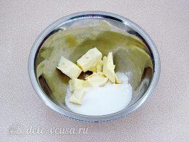 Домашнее шоколадное печенье: Сахар перемешать с маслом