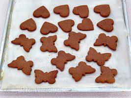 Домашнее шоколадное печенье: Вырезать печенье