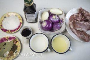 Холодный шашлык из свинины: Ингредиенты