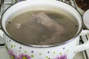 Холодный шашлык из свинины: Отварить мясо