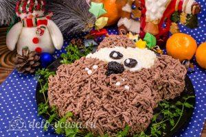 Салат Собачка с печенью готов
