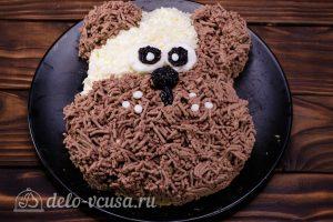 Салат Собачка с печенью: Добавить глаза и мордочку