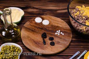 Салат Собачка с печенью: Подготовить чернослив