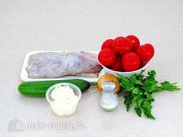 Салат с кальмаром и свежим огурцом: Ингредиенты