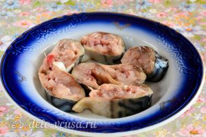 Скумбрия запеченная с горчицей: Подготовить рыбу