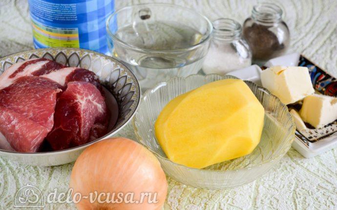 Тушеная картошка со свининой: Ингредиенты