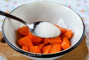 Варенье из тыквы с апельсином и лимоном: Добавить сахар