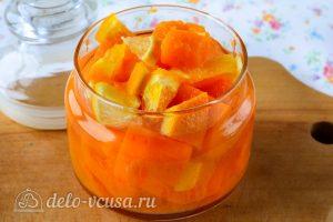 Варенье из тыквы с апельсином и лимоном: Кладем в банку