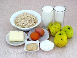 Овсяная запеканка с яблоками: Ингредиенты