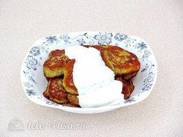 Заварные картофельные оладьи готовы
