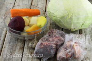 Борщ с говядиной: Ингредиенты