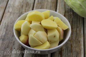 Борщ с говядиной: Картошку порезать кубиками