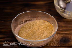 Брауни с кэробом: Соединяем сухие ингредиенты и масляную смесь