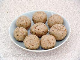 Десертные шарики Казачок: Слепить шарики из всего теста
