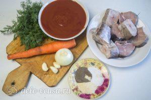 Хек в томатном соусе: Ингредиенты
