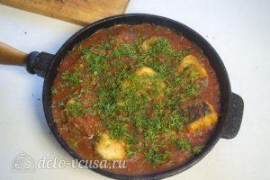 Хек в томатном соусе готов