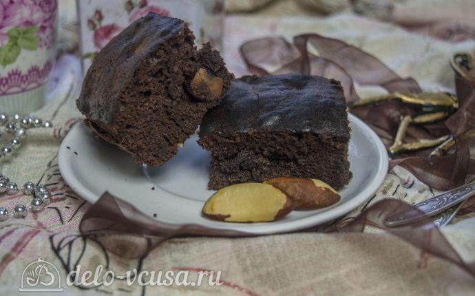 Кофейный брауни с орехами