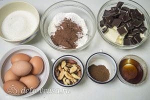 Кофейный брауни с орехами: Ингредиенты