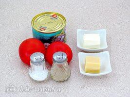 Запеченные консервы с помидорами и сыром: Ингредиенты