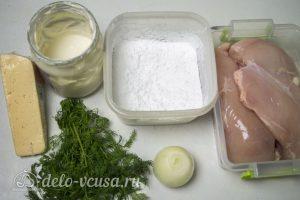 Рубленные куриные котлеты с сыром: Ингредиенты