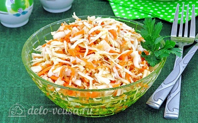 Салат из капусты с морковью и корнем сельдерея