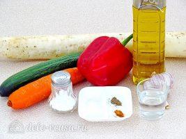 Салат из дайкона по-корейски: Ингредиенты