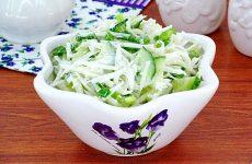 Салат из черной редьки с огурцом