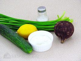 Салат из черной редьки с огурцом: Ингредиенты